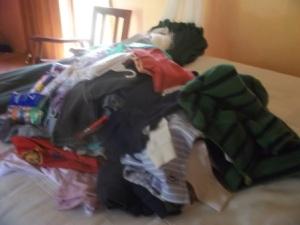 mountaitn of clothes