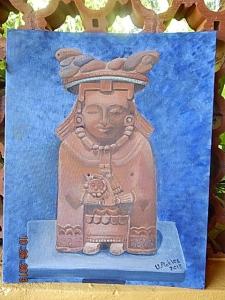 Maya statue found in Jaina