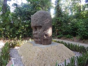 one of the many Olmec heads