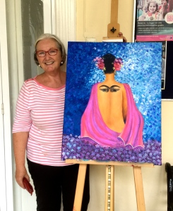 Joanna with her painting